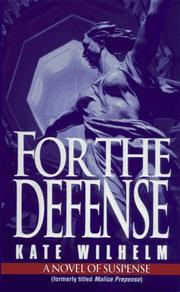 Cover of: For the Defense