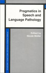 Cover of: Pragmatics In Speech And Language Pathology | Nicole Muller