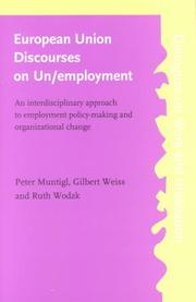 Cover of: European Union Discourses on Un/Employment | Peter Muntigl
