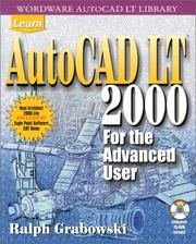 Cover of: Learn AutoCAD LT 2000 for the Advanced User