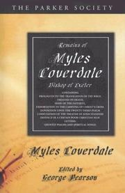 Cover of: Remains of Myles Coverdale, Bishop of Exeter