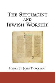 Cover of: The Septuagint and Jewish Worship