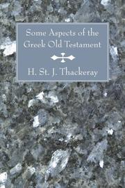 Cover of: Some Aspects of the Greek Old Testament
