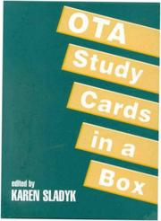 Cover of: OTA Study Cards in a Box by Karen Sladyk