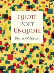 Cover of: Quote Poet Unquote