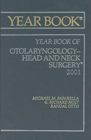 Cover of: Otolaryngology Head And Neck Surgery 2001 | Michael M. Paparella