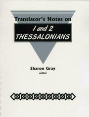 Cover of: Translator's Notes on 1 and 2 Thessalonians