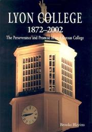 Cover of: Lyon College 1872-2002 | Brooks Blevins