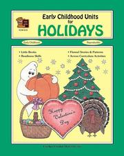 Cover of: Early Childhood Units for Holidays | SANDRA MERRICK