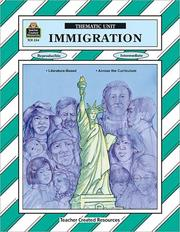 Cover of: Immigration Thematic Unit