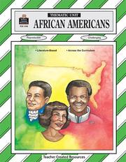 Cover of: African Americans Thematic Unit