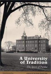 Cover of: University of Tradition, The Spirit of Purdue