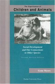 Cover of: The significance of children and animals