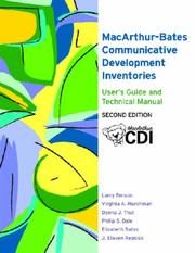 The MacArthur-Bates Communicative Development Inventories by Larry Fenson, Virginia A. Marchman, Donna Thal