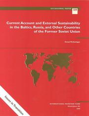 Cover of: Current Account and External Sustainability in the Baltics, Russia, and Other Countries of the Former Soviet Union