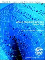 Cover of: World Economic Outlook October 2000 | International Monetary Fund.
