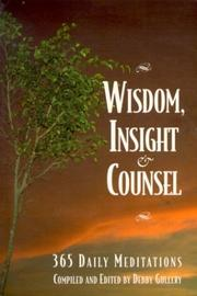 Cover of: Wisdom, Insight & Counsel
