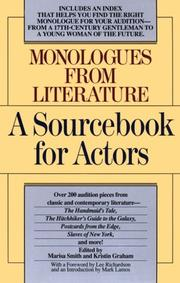 Cover of: Monologues from literature