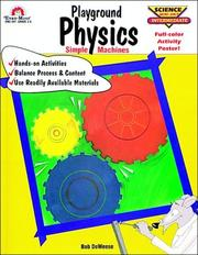 Cover of: Playground Physics (Science Mini Unit Intermediate) | Bob DeWeese