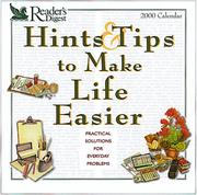 Cover of: Reader's Digest Hints & Tips to Make Life Easier