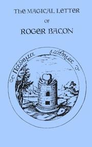 Cover of: Magical Letter of Roger Bacon