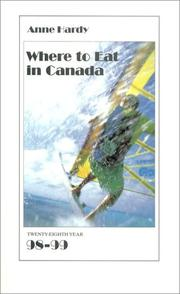 Cover of: Where to Eat in Canada 98-99 (Where to Eat in Canada)