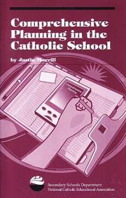 Cover of: Comprehensive Planning in the Catholic School | Justin Morrill