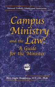 Cover of: Campus Ministry and the Law