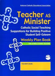 Cover of: Teacher as Minister Weekly Plan Book