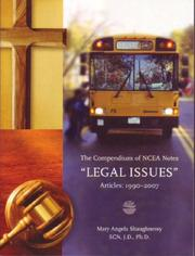 "Cover of: Compendium of NCEA Notes ""LEGAL ISSUES"" Articles"