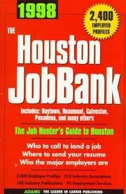 Cover of: 1998 Houston Jobbank (Job Bank Series) | Steven Graber