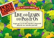 Cover of: Postcards from Live and Learn and Pass It on