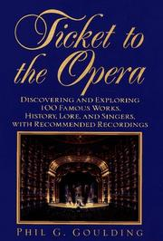 Cover of: Ticket to the Opera