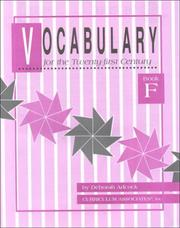 Cover of: Vocabulary for the 21st Century | D. Adcock