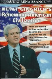 Cover of: Renewing American Civilization