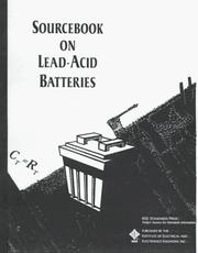 Cover of: Sourcebook on Lead-Acid Batteries