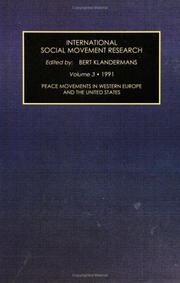 Cover of: International Social Movement Research: A Research Annual  | Bert Klandermans