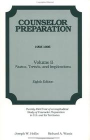 Cover of: Counselor Preparation 1993-1995