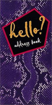 Cover of: Hello? Address Book (Purple Snake)