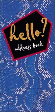 Cover of: Hello? Address Book (Blue Snake)
