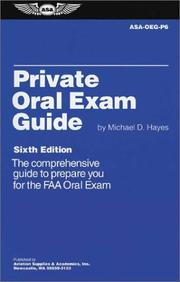Cover of: Private Oral Exam Guide | Michael Hayes
