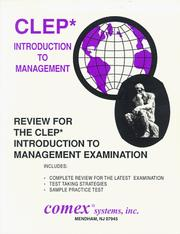 Cover of: Review for the Clep Introduction to Management Exam