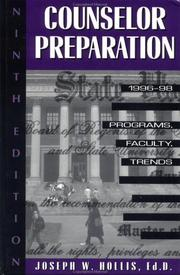 Cover of: Counselor Preparation 1996-98