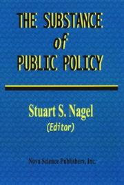 Cover of: The Substance of Public Policy