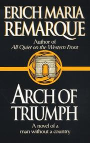 Cover of: Arc de triomphe