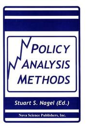 Cover of: Policy Analysis Methods