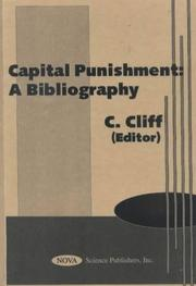 Cover of: Capital Punishment | C. Cliff