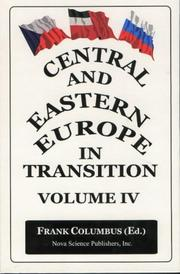 Cover of: Central and Eastern Europe in Transition