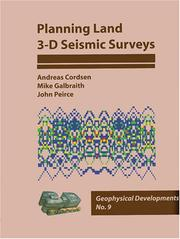 Cover of: Planning Land 3-D Seismic Surveys (plus CD-ROM) | Andreas Cordsen