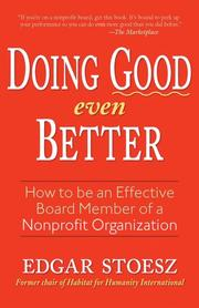 Cover of: Doing Good Even Better
